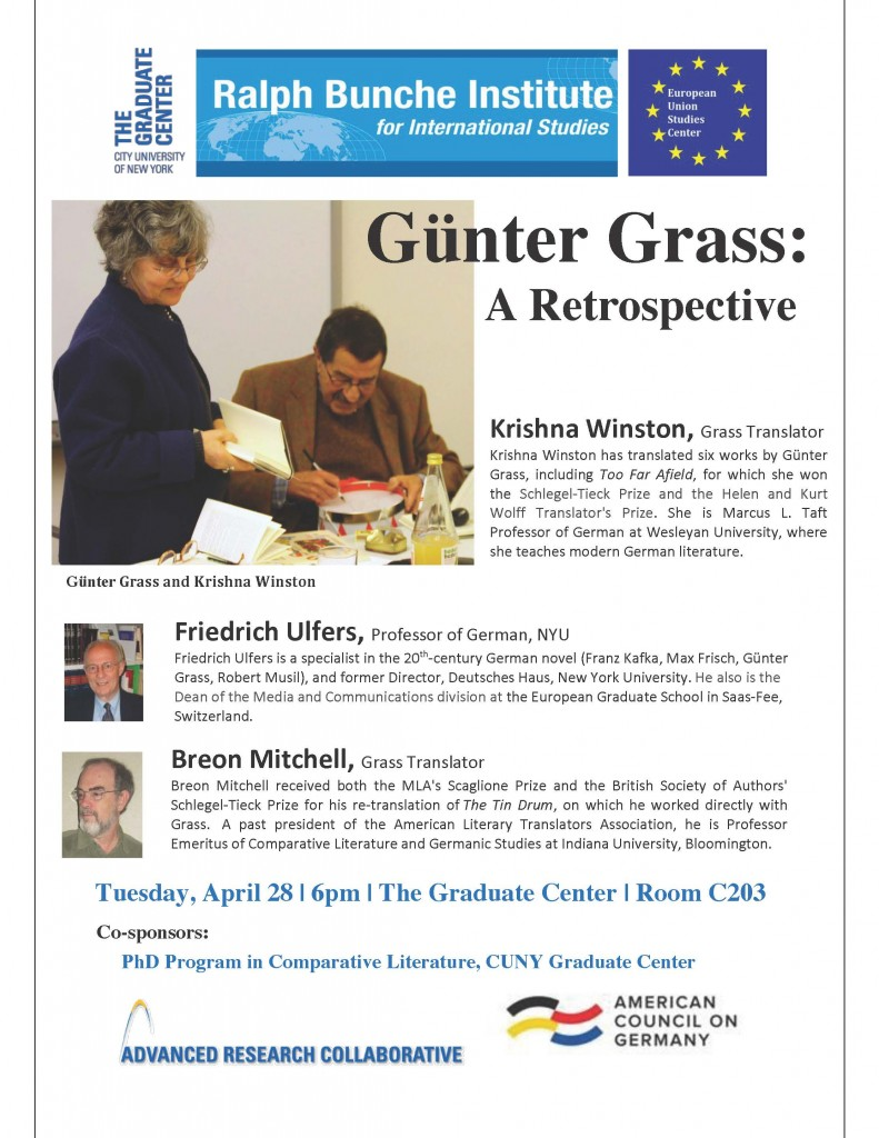 Gunter Grass CUNY Event [1]