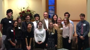 Induction of Wesleyan students to Phi Beta Kappa on December 2, 2015